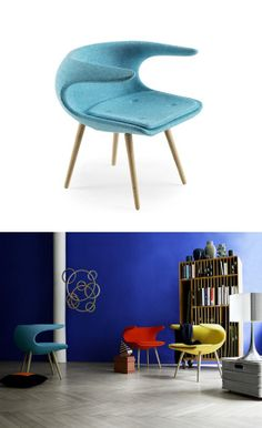 Fabric easy #chair with armrests FROST by Stouby Furniture   #design FurnID