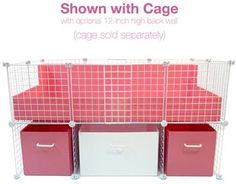 Coolest Guinea Pig Cage ever, I wish I had room! Pink and White Medium Cubby