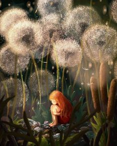 Make a wish 🙃💜. Art by Emilia Dziubak. Art Fantaisiste, Art Anime, Art Et Illustration, Fairytale Art, Inspiration Art, Flower Fairies, Fairy Art, Whimsical Art, Oeuvre D'art