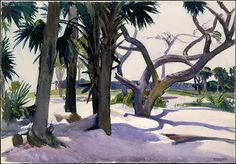 Edward Hopper: Folly Beach, Charleston, South Carolina, 1929 /  Watercolor, gouache and charcoal on paper