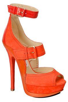 Coral strap heels