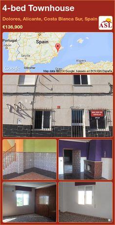 4-bed Townhouse in Dolores, Alicante, Costa Blanca Sur, Spain ►€136,900 #PropertyForSaleInSpain