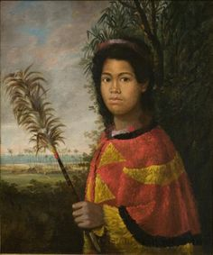Nahi'ena'ena (Sister of Kamehameha III)  1825, Robet Dampier