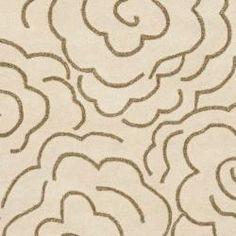 Handmade Soho Roses Beige New Zealand Wool Rug (7'6 x 9'6)