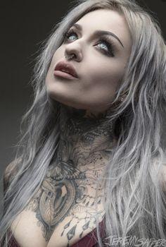 Ryan Ashley Ink Master, Tattoed Women, Tattoed Girls, Ryan Ashley Malarkey, Gothic Photography, Ink Model, Alternative Photography, Hot Goth Girls, Princess Tattoo