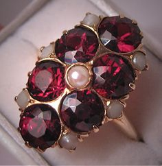 Hey, I found this really awesome Etsy listing at https://www.etsy.com/listing/75848414/antique-garnet-pearl-ring-victorian-deco