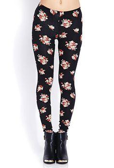 Vintage Rose Leggings | FOREVER21 - 2000066587
