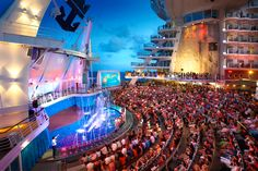 Oasis Aqua Theater on Royal Caribbean's Oasis of the Seas...wow