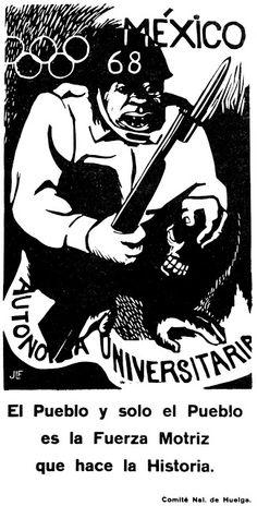 2 DE OCTUBRE: LA MASACRE: (parte del testimonio de un estudiante del Politécnico) Mexico 68, Arte Popular, Typography Design, Memories, Retro, School, Movie Posters, Fictional Characters, Mayo
