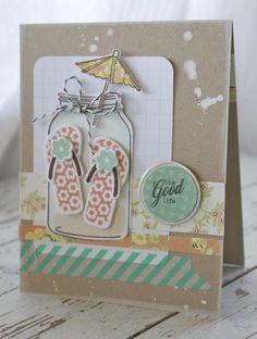 Flip Flops in Jar Card - Michelle Wooderson