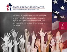 The Civics Education Initiative is simple in concept. It requires high school students, as a condition for graduation, to pass a test on 100 basic facts of U.S. history and civics, from the United States Citizenship Civics Test – the test all new US citizens must pass.