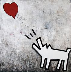 #Banksy #Abstract  #Painting #Contemporary #Graffiti #Acrylic #Resin #Dog #Art #Hope
