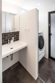 pinwheel | 注文住宅なら建築設計事務所 フリーダムアーキテクツデザイン Stacked Washer Dryer, Pinwheels, Powder Room, Home Appliances, Bathroom, Interior, House, Furniture, Toilet Room