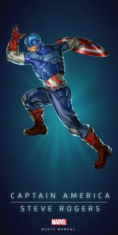 """#Captain America #Fan #Art. (CAPTAIN AMERICA - STEVE ROGERS IN: MARVEL'S PUZZLE QUEST!) BY: AMADEUS CHO! (THE * 5 * STÅR * ÅWARD * OF: * AW YEAH, IT'S MAJOR ÅWESOMENESS!!!™)[THANK U 4 PINNING!!!<·><]<©>ÅÅÅ+(OB4E)(IT'S THE MOST ADDICTING GAME ON THE PLANET, YOU HAVE BEEN WARNED!!!)(YOU WANT TO FIND THE REST OF THE CHARACTERS, SIMPLY TAP THE """"URL"""" HERE:  https://www.pinterest.com/ezseek/puzzle-quest-art/ (THANK YOU FOR DOING ALL YOUR PINNING AT: HERO WORLD!)"""
