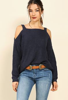 779ce34c12e0c Knit Open-Shoulder Sweater  22.99