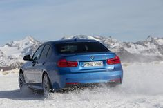 #BMW #F30 #335d #Sedan #xDrive #M #Package #Estoril #Blue #Facelift #Winter #Snow #Drift