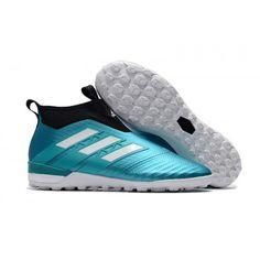separation shoes 4442d 0be98 Botas De Futbol Sala Adidas ACE Tango 17+ Purecontrol TF Cian Negro Blanco
