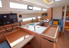 Sun Odyssey 410 │ Sun Odyssey of │ Boat Sailboat Jeanneau Helm station 14121 Guest Cabin, Deck Plans, Sailboat, Architecture Design, Layout, Sun, Home, Sailing Boat, Architecture Layout