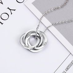 Personalized gift for mother, Customized gift ideas for her, bespoke necklace for women, custom engraved necklace for her, cutomized graduation gift for girls Personalized gift for mum #mother #mom #mum #personalized #gift Family Necklace, Circle Necklace, Dainty Necklace, Name Necklace, Pendant Necklace, Engraved Necklace, Personalized Necklace, Personalised Jewellery, Great Gifts For Women