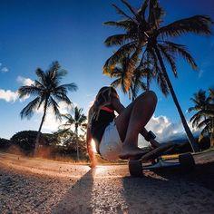Photo of the Day! Cruising into Saturday with #GoProGirl @keyana.poki! #Hawaii #Aloha #SkateLife #GetOutside #GoPro #IslandLife