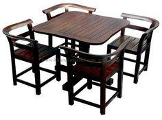 Meja Cafe kayu jati harga terjangkau kualitas terbaik dare mebel jepara bahan baku kayu jati solid gred A terjamin kekokohannya terbukti awet hingga 10Th d.