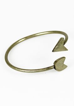 Archer Bangle: Antiqued Gold [TAB 1091] - $11.99 : Spotted Moth, Chic and sweet clothing and accessories for women