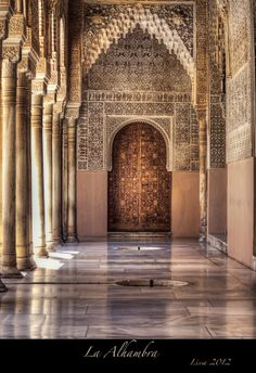 La Alhambra by Lissa _G Photography on Islamic Architecture, Amazing Architecture, Art And Architecture, Granada Andalucia, Alhambra Spain, Le Palais, Arabesque, Spain And Portugal, Spain Travel