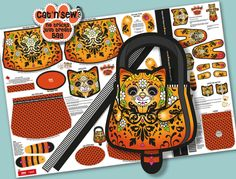 """Candy Cat - """"No Tricks Just Treats"""" Bag design by Wood Mouse & Bobbit. www.facebook.com/WoodMouse.and.Bobbit."""