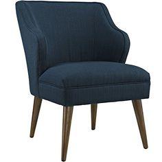 LexMod Swell Fabric Armchair, Azure LexMod…
