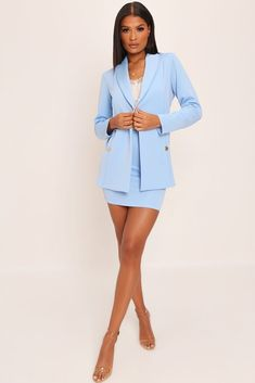 bf3d1be92b85 Baby blue double button blazer. Baby Blue Double Button Blazer – I SAW IT  FIRST