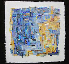 "slideshow and descriptions of mosaic series, 'Exploration of the Grid', 12"" square abstract mosaics"