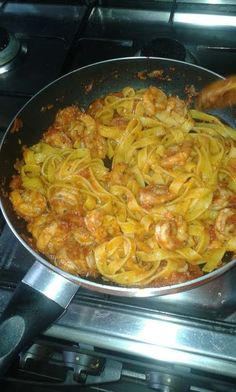 "Pastas with spicy shrimps and tomato sauce! """"  @allthecooks #recipe"