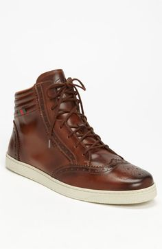 Gucci 'Coda' High Top Sneaker available at #Nordstrom Gucci Sneakers, Gucci Shoes, Leather Sneakers, High Top Sneakers, Men's Shoes, Shoe Boots, Wool Socks, Cotton Socks, Kids Socks