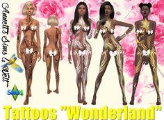 "Sims 4 CC's - The Best: Tattoo ""Wonderland"" by Annett85"