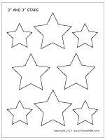 50 stars printable template