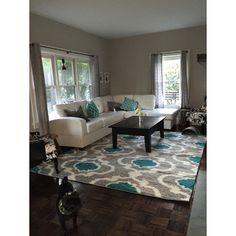 World Rug Gallery Florida Gray/Turquoise Area Rug & Reviews | Wayfair