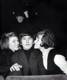 Paul McCartney photobombing before it was cool.