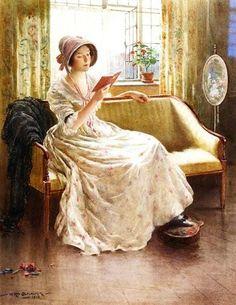 """A Quiet Read"", c. 1900, by William Kay Blacklock (British, 1872-1922)"