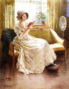 'A Quiet Read' by English Painter William Kay Blacklock c.1900