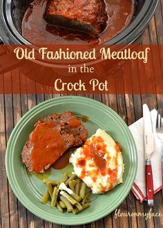 Old Fashioned Crock Pot Meatloaf