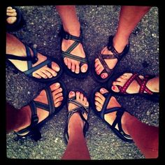 I love my chacos...and hope by the end of the summer, everyone will know from the tan lines on my feet:)