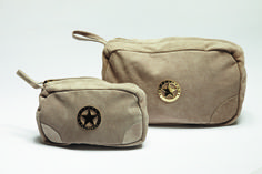 The Classic One! FLORENCE DESIGN Suede leather make-up and toilet bags with golden Florence Coin! Suede Leather, Florence, Toilet, Coins, Coin Purse, Take That, Bath, Classic, Collection