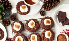 Fudgy, brownie-like cookies that are soft in the center and topped with a jumbo toasted marshmallow, these Hot Chocoalte Cookies with Toasted Marshmallows will spruce up your holiday cookie-baking. Print RecipeHot Chocolate Cookies with Toasted Marshmallows Prep Time: 20 minutesCook Time: 20 minutesTotal Time: 40 minutes Yield: 2 dozen cookiesGet the Recipe
