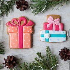 Пряник Подарок - пряник, расписные пряники, пряники новогодние, Новый Год, новый год 2016