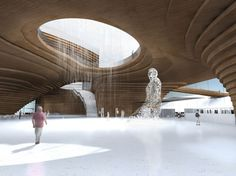 Stage One Gallery — Guggenheim Helsinki Design Competition Architecture Concept Drawings, Museum Architecture, Futuristic Architecture, Landscape Architecture, Interior Architecture, Landscape Design, Museum Logo, Art Museum, Louvre Museum