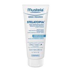Mustela Stelatopia Lipid-Replenishig Balm: rich balm for dry and eczema prone skin that soothes, relieves dryness, relieves scratching. #eczema