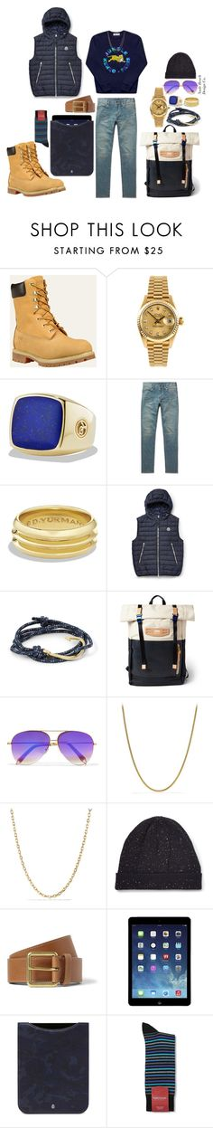 """F/W 16'"" by spencer-clowers ❤ liked on Polyvore featuring Rolex, David Yurman, Yves Saint Laurent, Moncler, MIANSAI, Master-Piece, Victoria Beckham, Thom Browne, Mulberry and men's fashion"