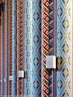 Polychrome interior of Church of Jesus' Heart (Jézus Szíve-plébániatemplom) in Kőszeg, Hungary Hungary, Beautiful