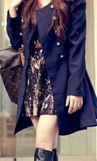 Great outfit.  Perfect purplish coat