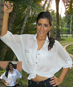 Camisera Blanca, perfecta para combinarla con pantalones de colores o de flores.
